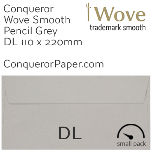 ENVELOPES - Wove.42882SP, WINDOW=No, TYPE=Wallet, TINT=Pencil Grey, SIZE=DL-110x220mm, QUANTITY=50