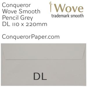 ENVELOPES - Wove.42882, WINDOW=No, TYPE=Wallet, TINT=Pencil Grey, SIZE=DL-110x220mm, QUANTITY=500