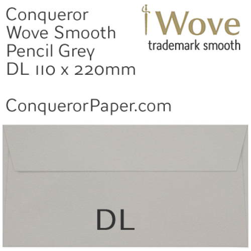 ENVELOPES - Wove.42882, WINDOW=No, TYPE=Wallet, TINT=Pencil Grey, SIZE=DL-110x220mm, QUANTITY=500