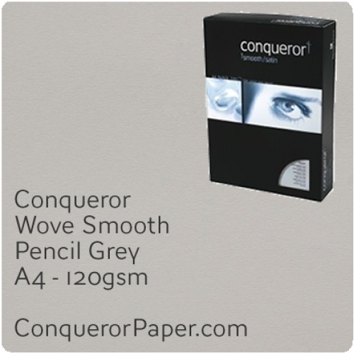 PAPER - Wove.42863C, TINT:Pencil Grey, FINISH:Wove, PAPER:120gsm, SIZE:A4-210x297mm, QTY:250Sheets, WATERMARKED:No