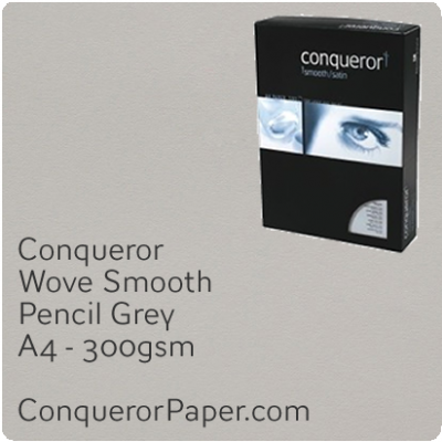 PAPER - Wove.42867C, TINT:Pencil Grey, FINISH:Wove, PAPER:300gsm, SIZE:A4-210x297mm, QTY:100Sheets, WATERMARKED:No